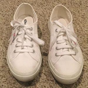 Superga White Canvas Sneaker Size 7/7.5
